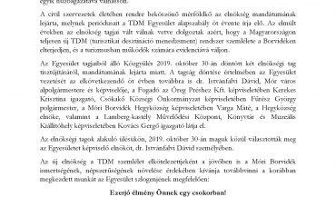 Sajtóközlemény a Móri Borvidék TDM Egyesület Elnökségének tisztújításáról